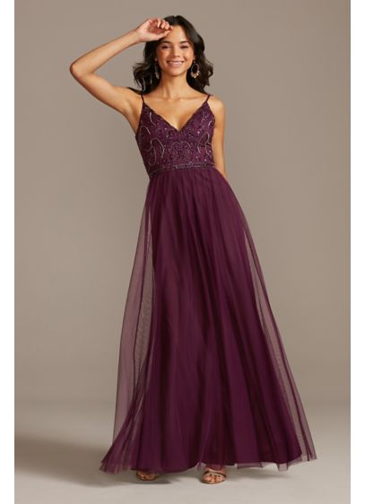Long A-Line Spaghetti Strap Formal Dresses Dress - Jump