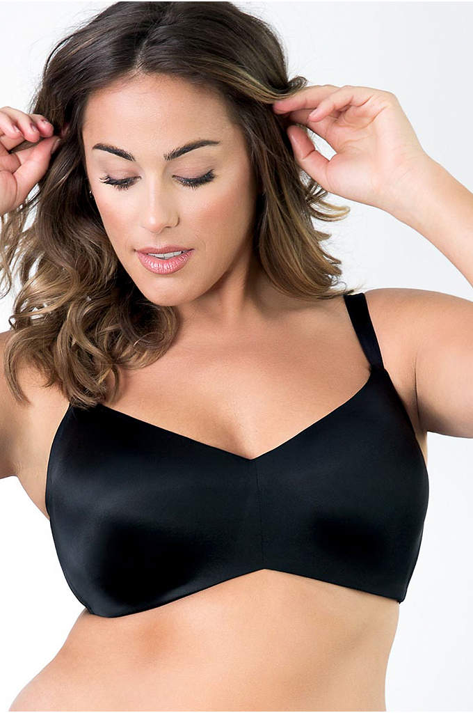 Curvy Couture Flawless Contour Wire-Free Bra - This everyday bra features luxe silky fabric and