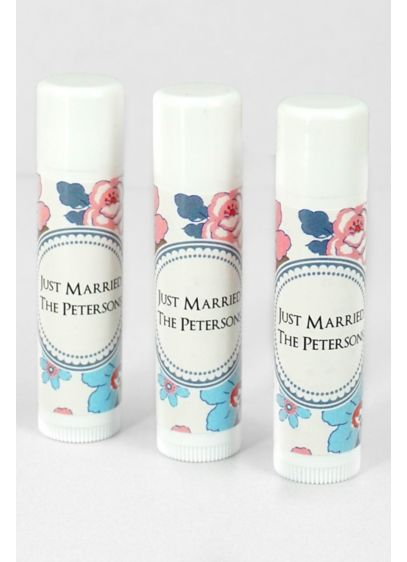 Personalized Floral Pattern Lip Balm - Show guests your gratitude by quenching their dry