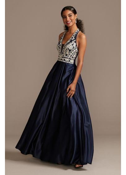 Long Ballgown Halter Formal Dresses Dress - Blondie Nites
