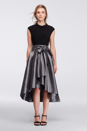 Silver High Low Dresses