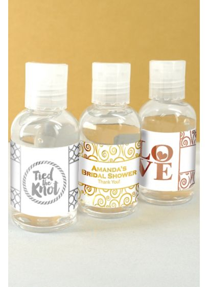 Metallic Foil Hand Sanitizer Favors - A thoughtful thank you for your guests, this