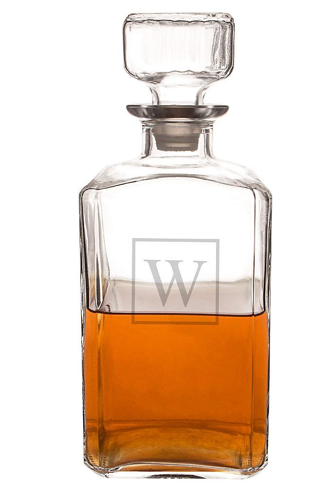 Personalized Glass Decanter - Warehouse your finest whiskey in this custom etched