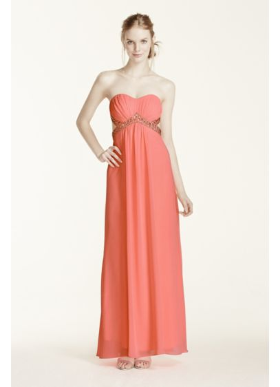 Long Sheath Strapless Cocktail and Party Dress - Morgan and Co