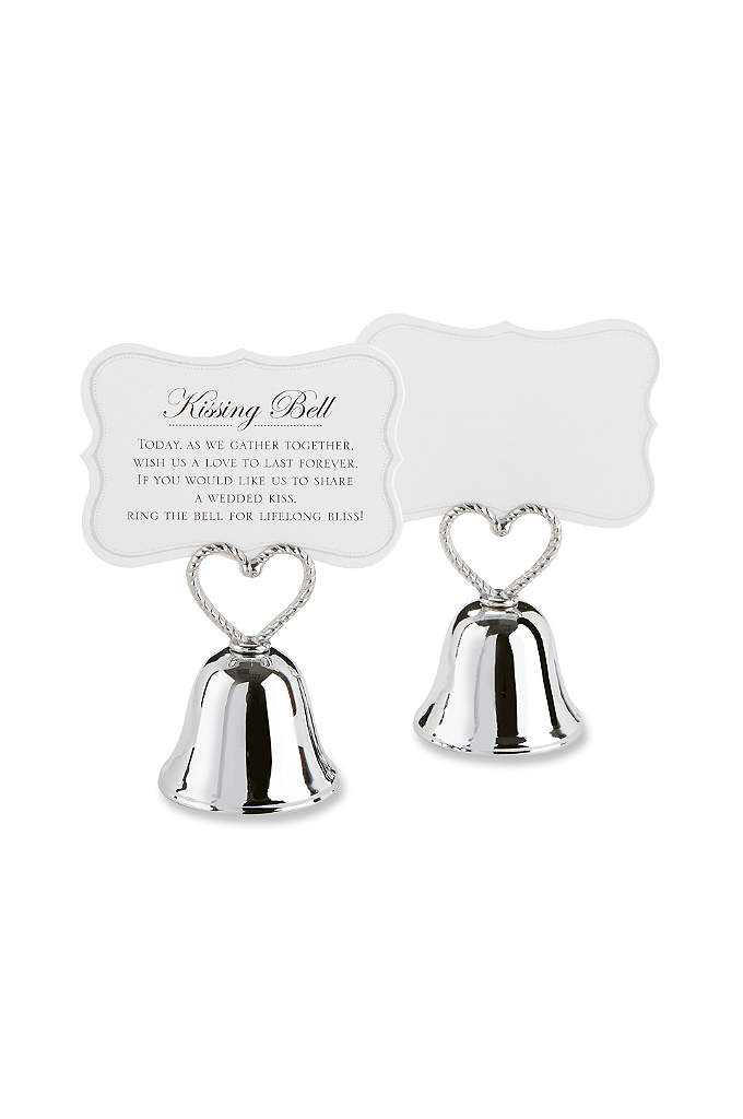 Kissing Bell Place Card Holder -Set of 24 - Bells will ring joyfully on your wedding day,