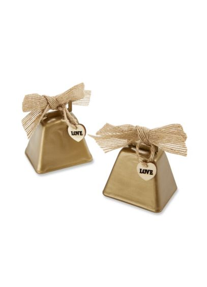 Country Charm Cowbell Kissing Bell Set of 6 - Wedding Gifts & Decorations
