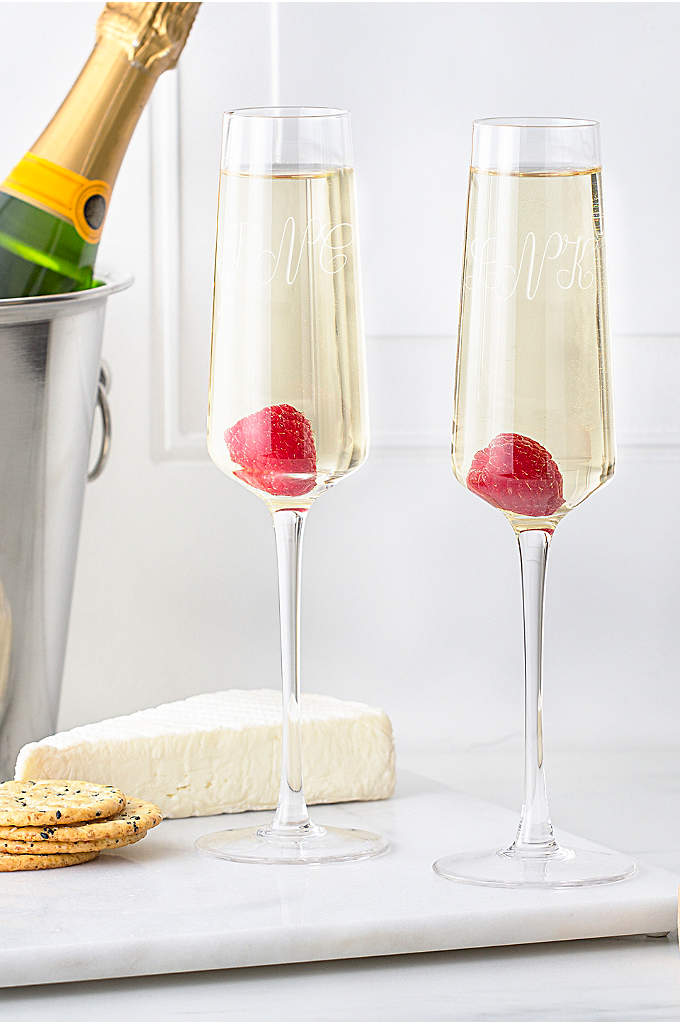 Personalized Monogram Champagne Estate Glasses Set - Revamp your barware collection with the Estate Collection