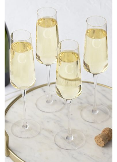 Personalized Champagne Estate Glass Set of 4 - Revamp your barware collection with the Estate Collection