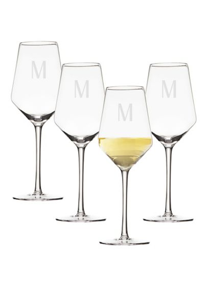 Personalized 14oz White Wine Estate Glass Set of - Sip your favorite white wine in style with