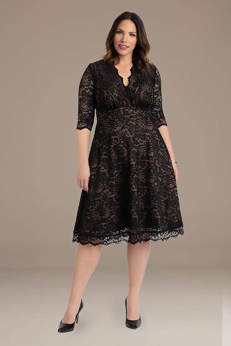 34e5e1192b40 Plus Size Black Dresses & Gowns | David's Bridal