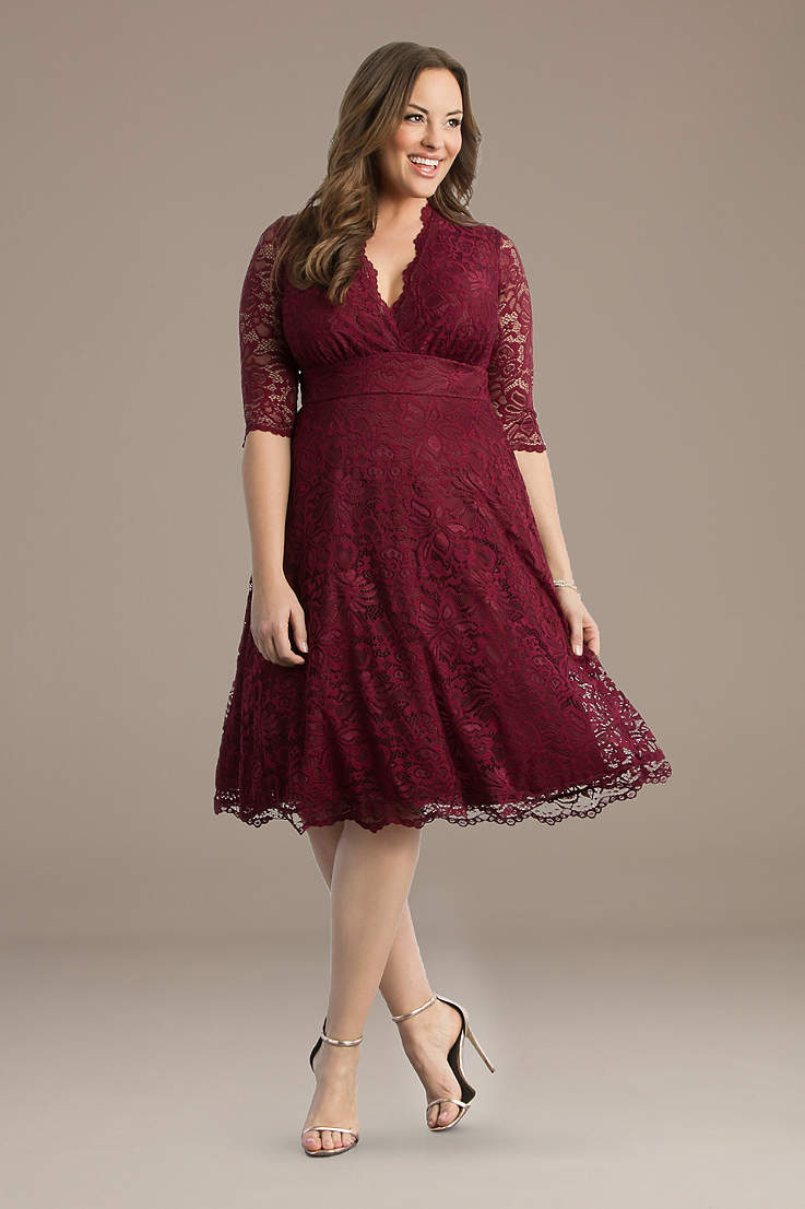 Plus Size Red Dresses | Davids Bridal