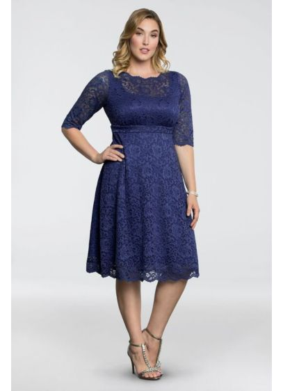 Lacey Plus-Size Cocktail Dress - This elegant party dress was designed specifically to