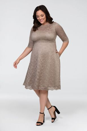 Short 3/4 Sleeves Dress -