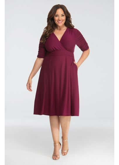 Gabriella Printed Plus Size Dress with Ruching