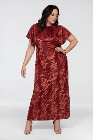 Long Sheath Short Sleeves Dress - Kiyonna