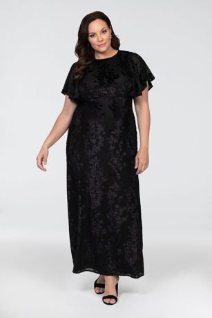 Long Sheath Short Sleeves Dress - Kiyonna