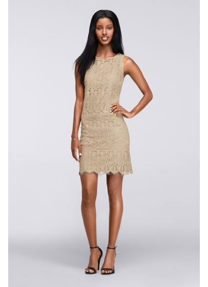 Short Sheath Tank Cocktail and Party Dress - Ronni Nicole