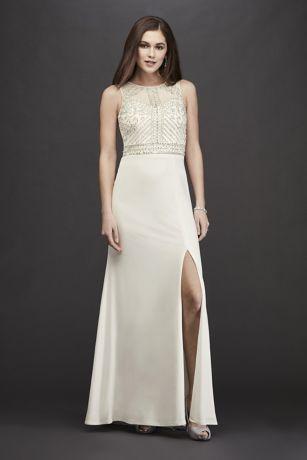 Long Sheath Halter Dress - RM Richards