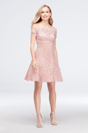 short lace a line dress