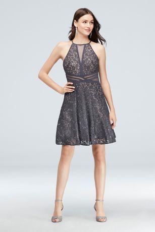 Short A-Line Halter Dress - RM Richards