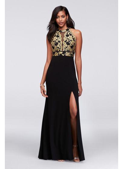 Long A-Line Halter Formal Dresses Dress - Morgan and Co