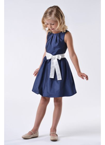 dcd402b24bc Taffeta Flower Girl Dress with Bubble Hem. 124UA. Short A-Line Tank Dress - US  Angels