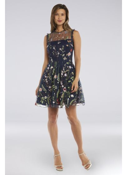 Short Ballgown Cap Sleeves Cocktail and Party Dress - Morgan and Co