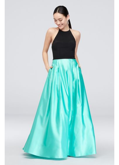 Long Ballgown Halter Cocktail and Party Dress - Blondie Nites