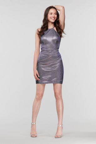 Short Sheath Halter Dress - Morgan and Co