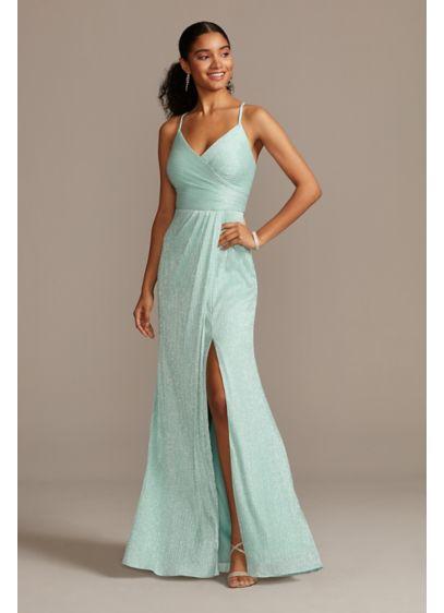 Long A-Line Spaghetti Strap Formal Dresses Dress - Morgan and Co
