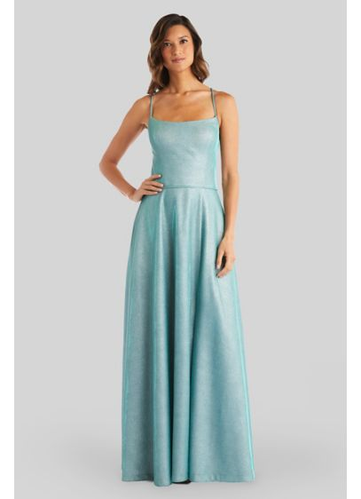 Long A-Line Spaghetti Strap Formal Dresses Dress - Morgan and Co