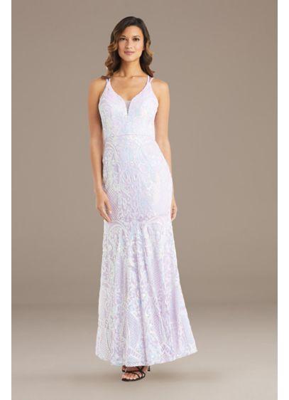 Long Mermaid / Trumpet Spaghetti Strap Guest of Wedding Dress - Morgan and Co