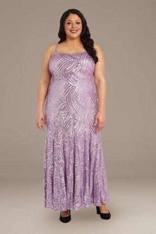 Long Mermaid / Trumpet Spaghetti Strap Dress - RM Richards