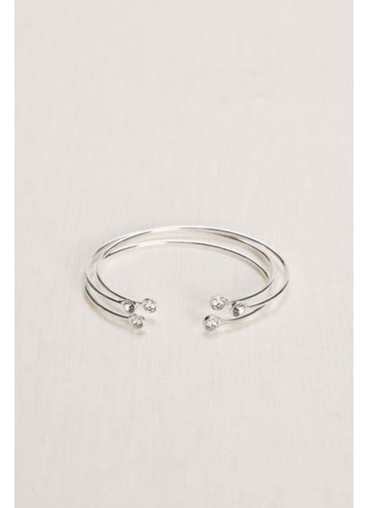 David's Bridal Grey (Set of Crystal Cuffs Bracelets)
