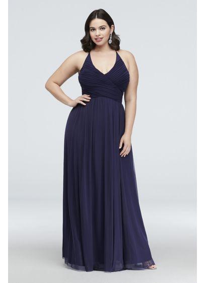 Long Blue Soft & Flowy Haute Nites Bridesmaid Dress