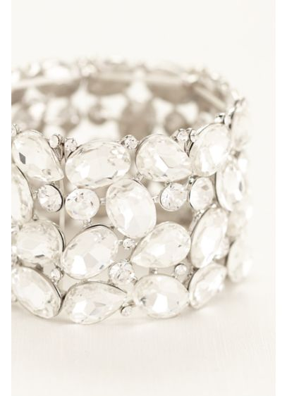 Pear and Round Cut Crystal Bracelet - Wedding Accessories