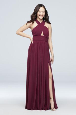 Long A-Line Halter Dress - Haute Nites