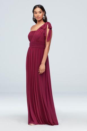 Long A-Line One Shoulder Dress - Haute Nites