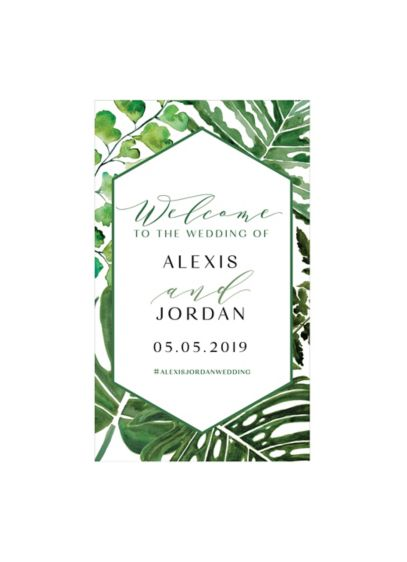 Greenery Personalized Welcome Sign - Wedding Gifts & Decorations