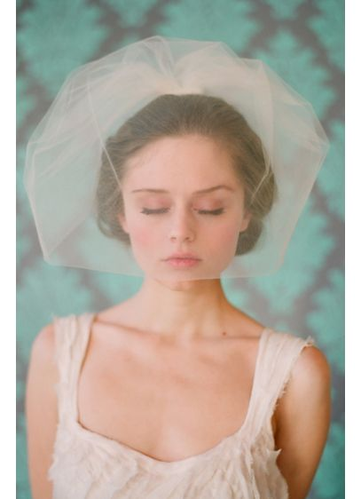 Double Layer Full Tulle Birdcage Veil - If you're looking for a more voluminous birdcage