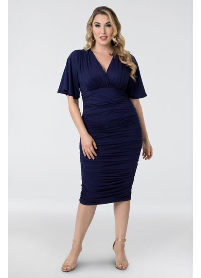 Rumor Ruched Plus Size Dress