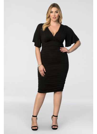 Rumor Plus Size Ruched Dress