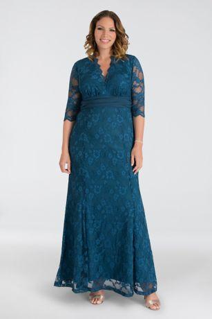 Long Mermaid / Trumpet 3/4 Sleeves Dress -