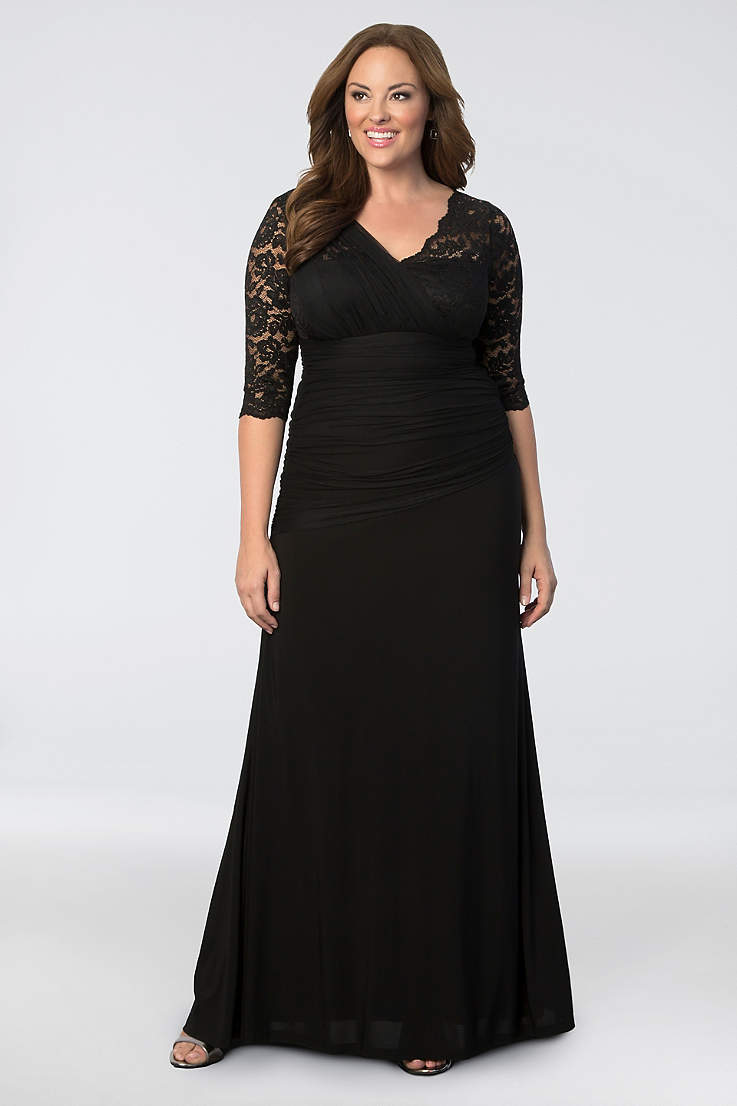 f99864c632b Long Sheath 3 4 Sleeves Dress - Kiyonna