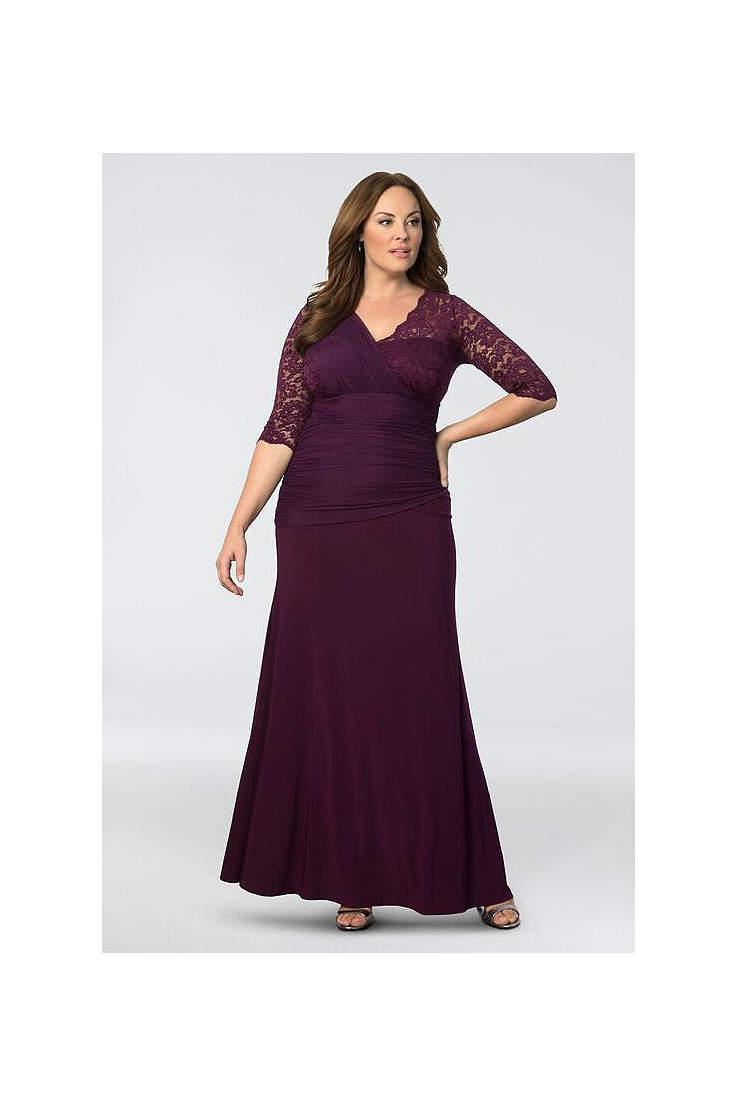 Plus Size Purple Dresses | Davids Bridal