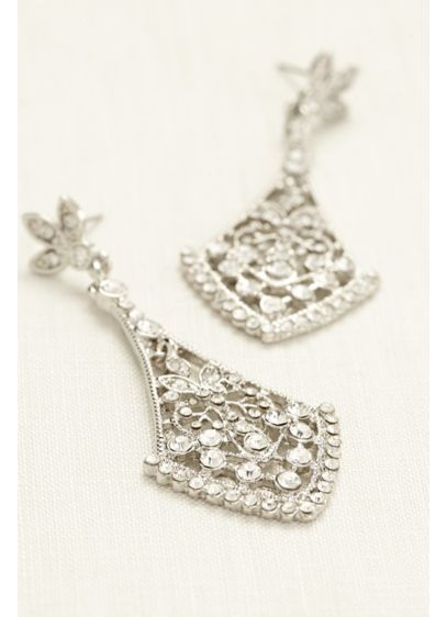 Crystal Chandelier Earrings - Wedding Accessories