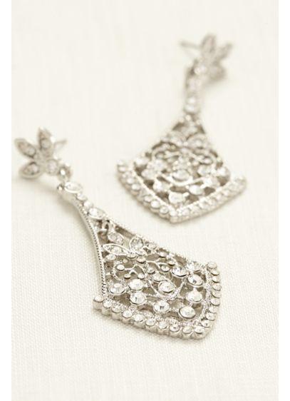 David's Bridal Grey (Crystal Chandelier Earrings)