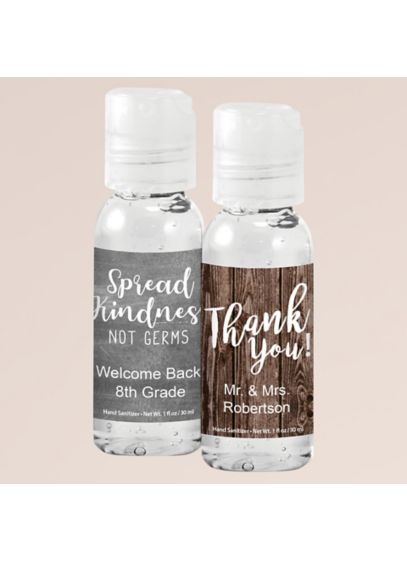 Personalized Hand Sanitizer Favors - Wedding Gifts & Decorations