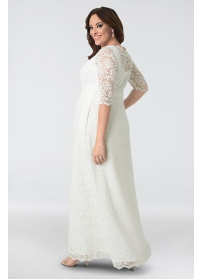 Long A-Line Boho Wedding Dress - Kiyonna