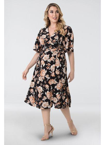 Cecile Chiffon Plus Size Wrap Dress | David\'s Bridal